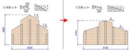 5 屋根勾配を緩やかにしてブロック壁の高さ低下