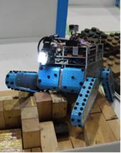 写真1:遠隔操縦型レスキューロボット(MeiseiRescueV)