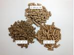 図3 木質ペレット3種類